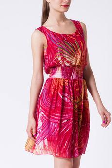Легкое шелковистое платье с поясом-резинка CONVER со скидкой
