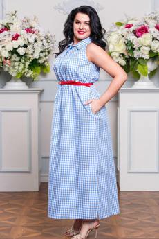 Длинное летнее платье из хлопка с карманами Angela Ricci