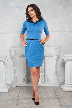 Голубое платье с карманами Angela Ricci