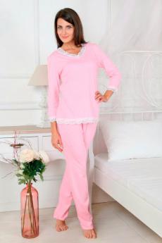 Розовая пижама с кружевом Милана